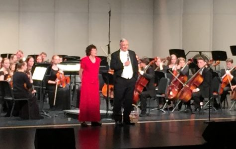 Mr. Hansen conducts his final Orchestra Concert