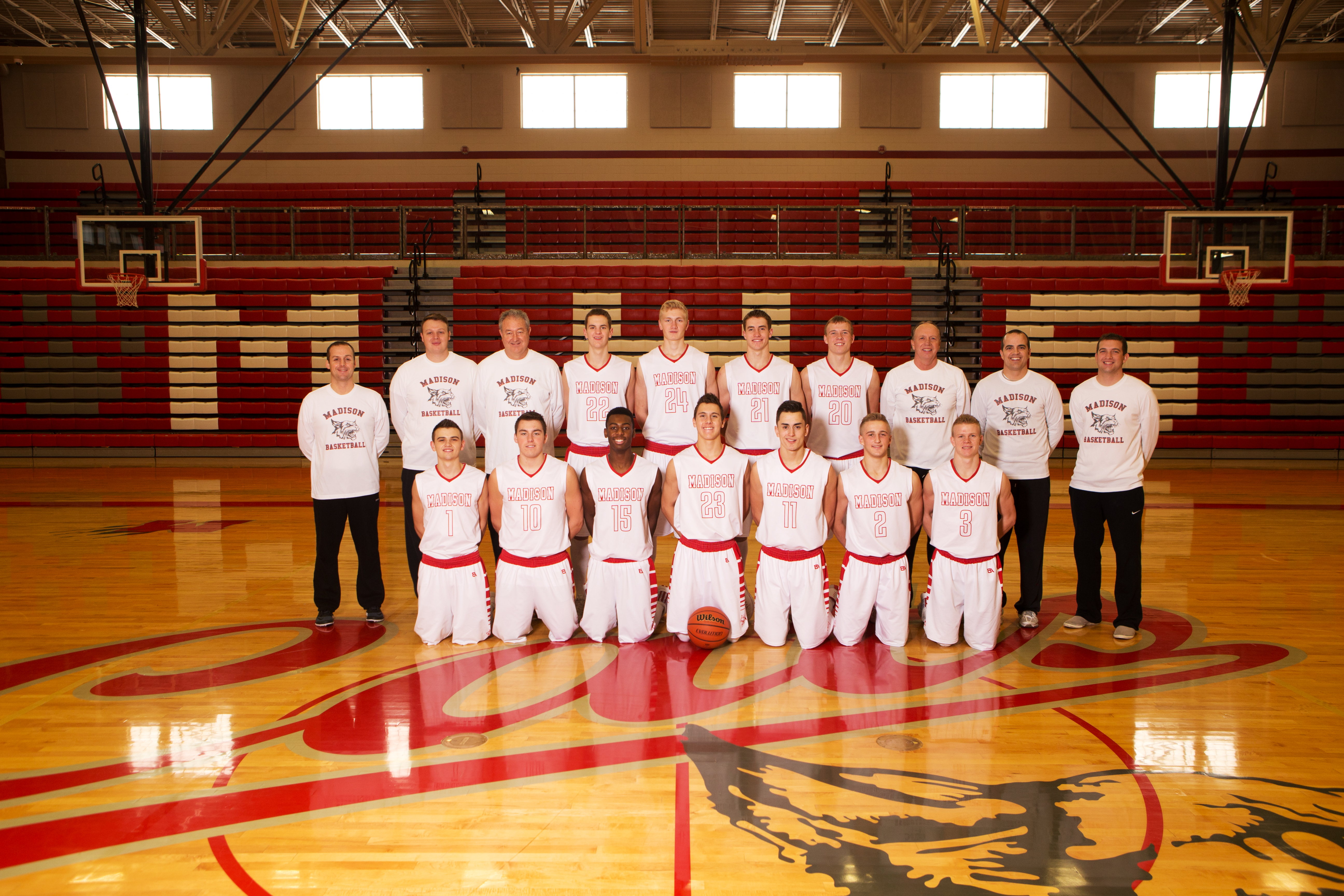 Photo courtesy of Josh Peterson Photography Boy's Varsity Basketball Team