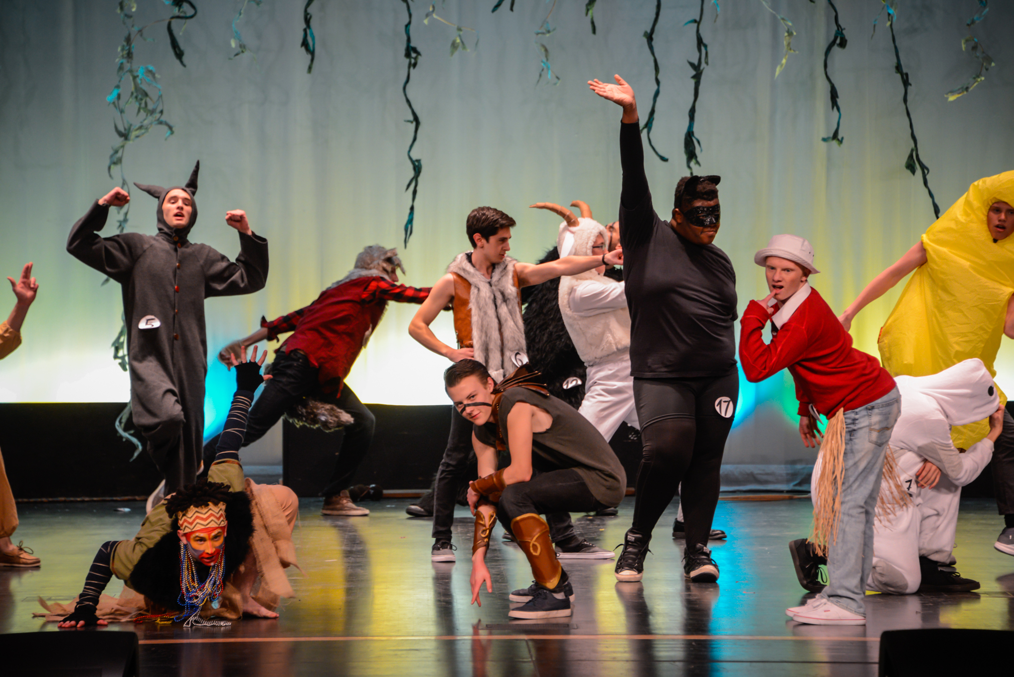 Mr. Madsion contestants performing in their opening dance number. at the Mr. Madison Contest. Photo courtesy: John Tourcotte