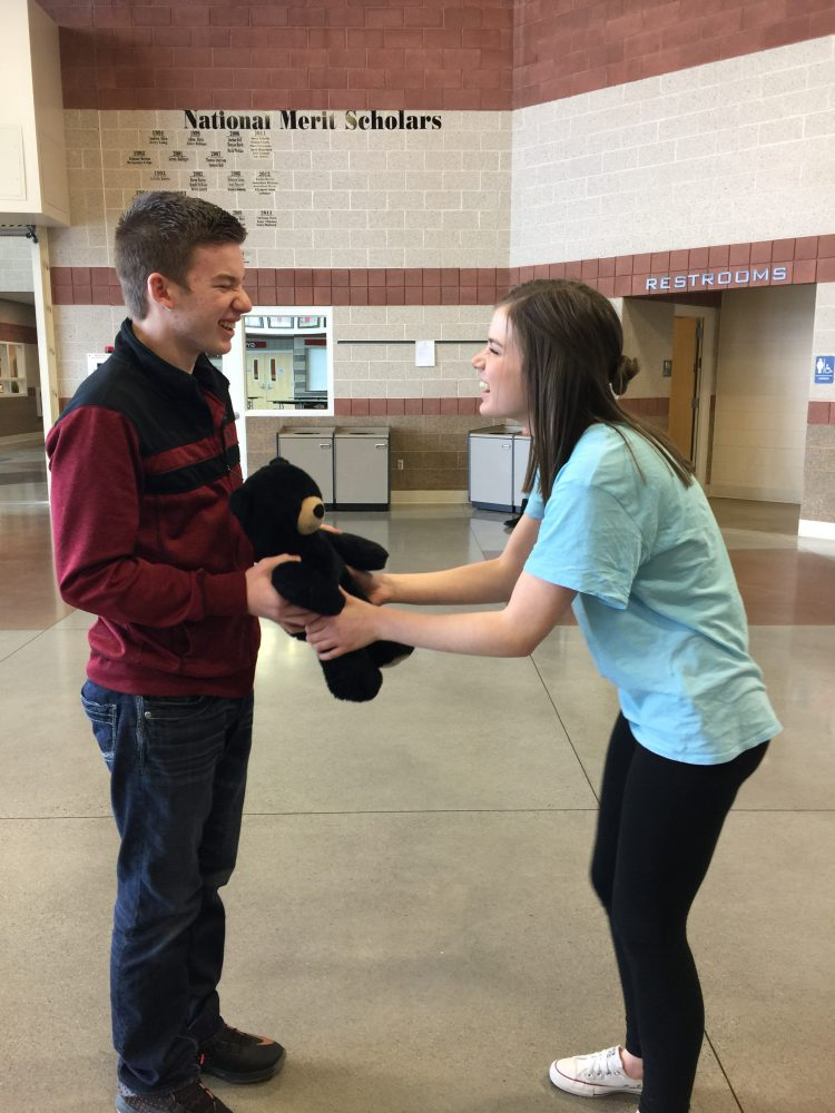 Dillan Egbert spreading the love on Valentine's Day to Ashley Orr Photo by: Gabi Carter