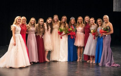 The 14 Miss Madison contestants on stage after the results. Photo credit: Kim's Photos.