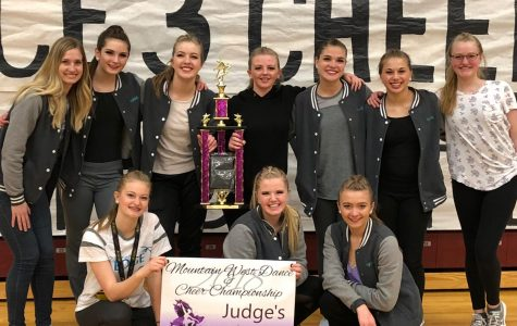 The Dancer's Edge team after winning first in all their routines at the Mountain West competition.  Photo Credit: Joy Esplin.