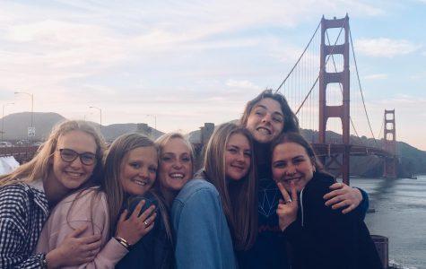 Girls on the San Francisco Choir trip.