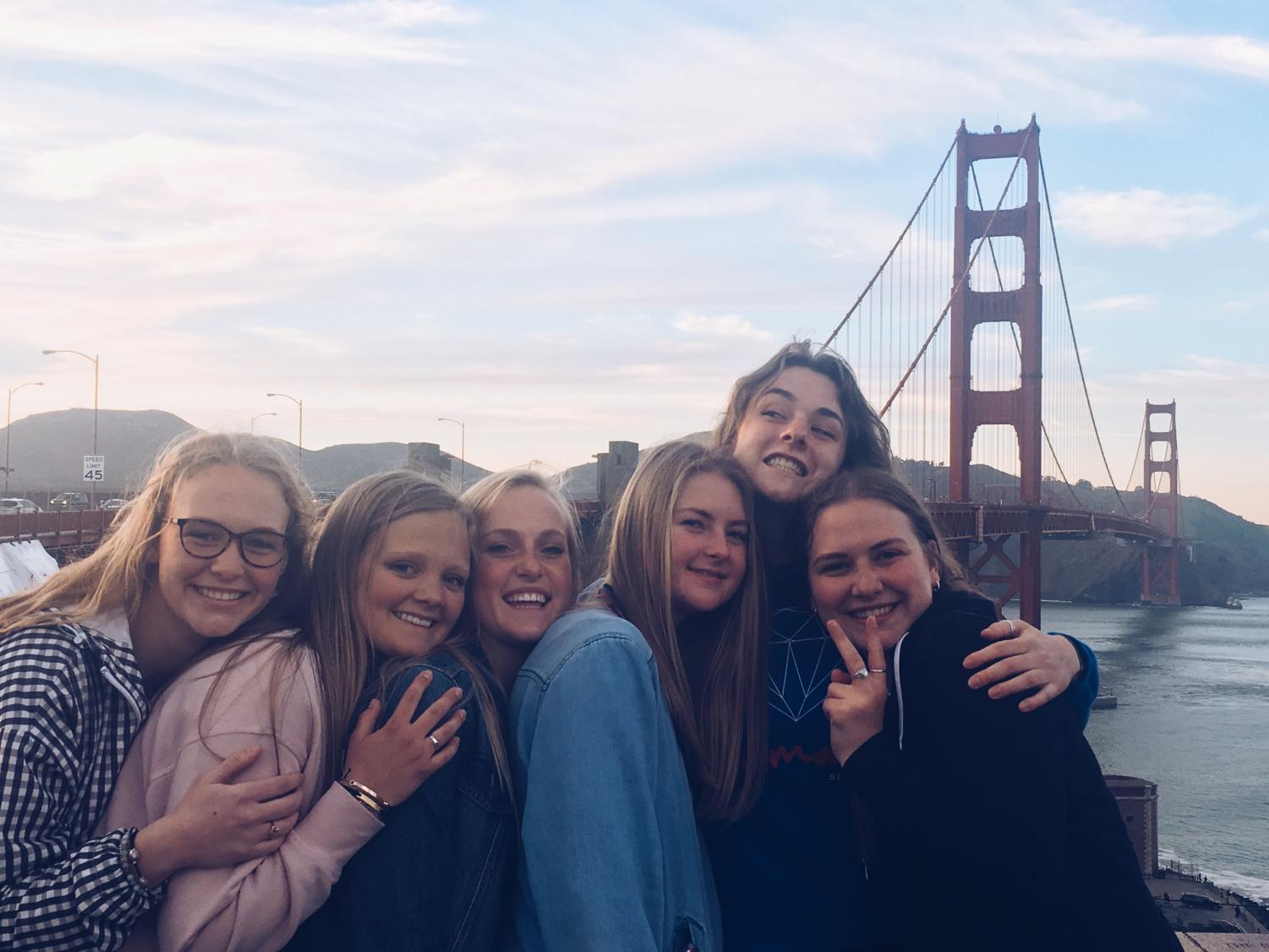Girls on the San Francisco Choir trip.