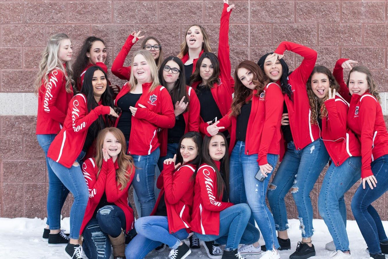 The Bobcadette dance team.