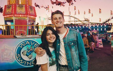 Hannah Castro and Boston Jensen at the fair.