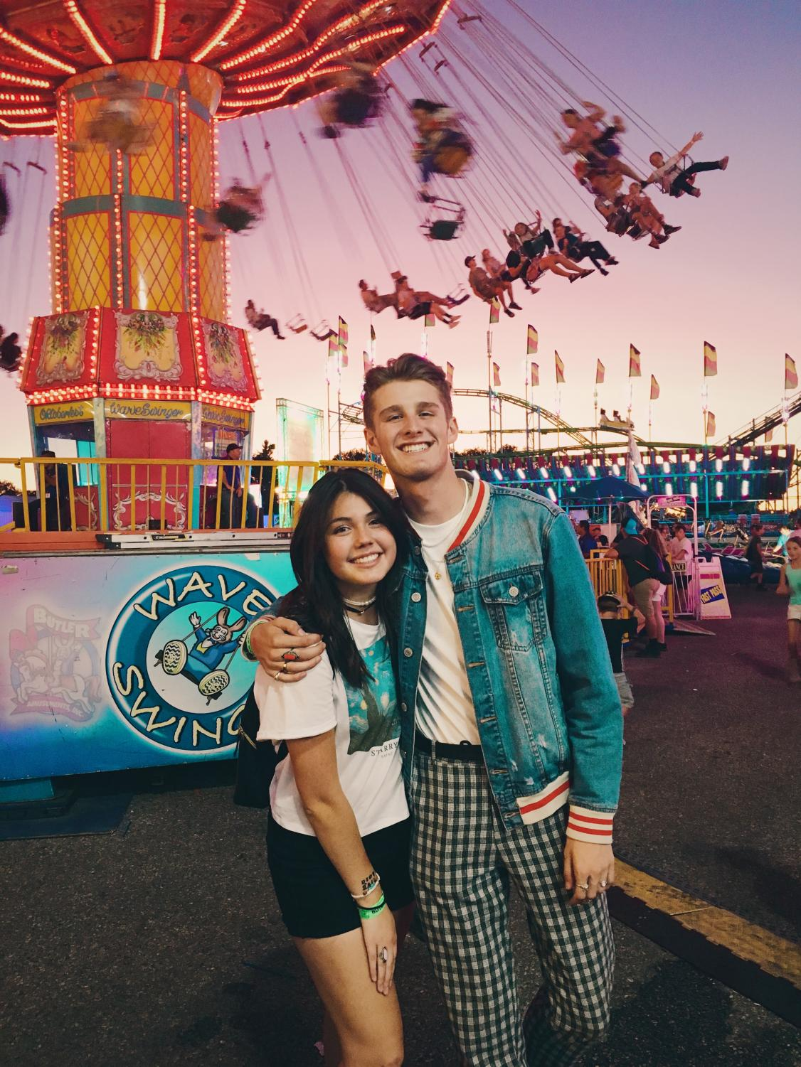 Hannah Castro and Boston Jensen at the fair.