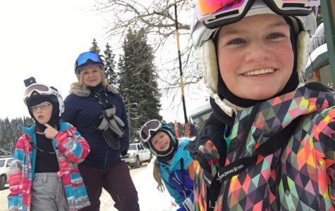 Sophomore Avery Simkins at Targhee Ski Resort.
