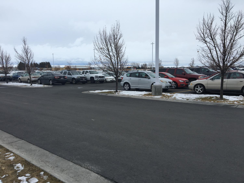 The MHS parking lot.