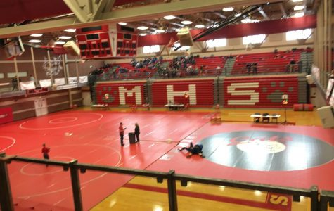 The Madison gym set up for the tournament.