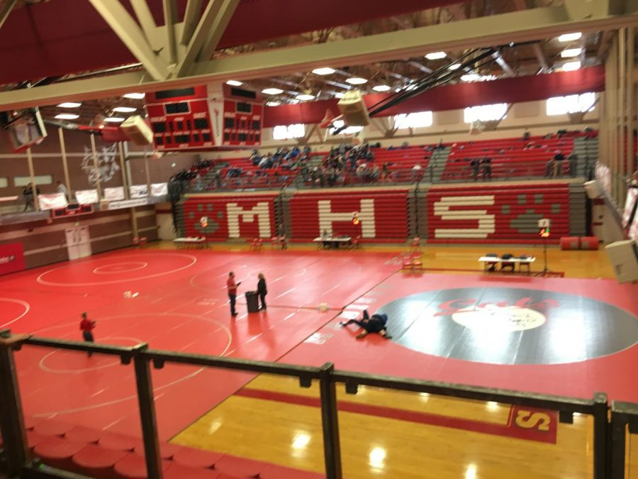 The+Madison+gym+set+up+for+the+tournament.+