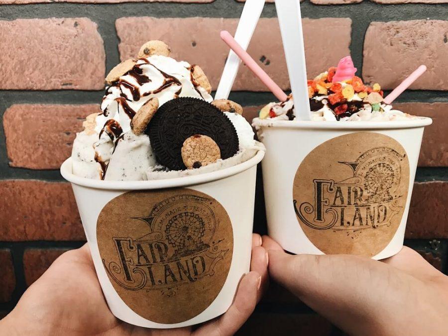 Delicious icecream from Fair Land.
