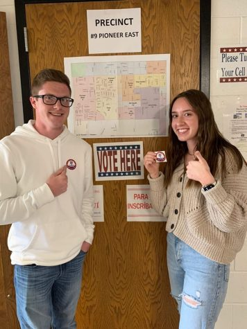 Megan and Michael Brugger at the polls on March 10th.