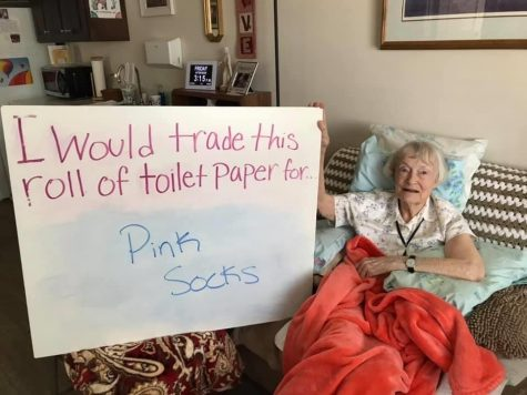Residents of The Homestead get into the giving spirit by trading toilet paper for fun things they want or need.