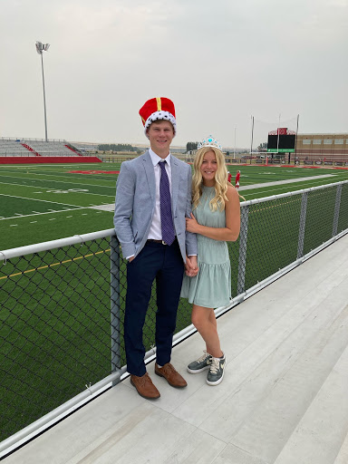 Annalise and Tyson after being crowned Homecoming Royalty.