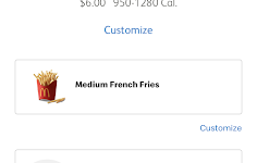 Travi Patty on McDonalds app.