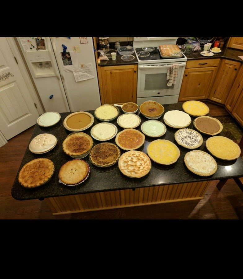 Pies on thanksgiving.
