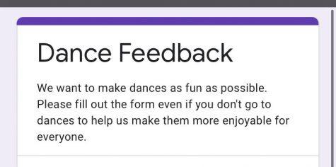 The Homecoming survey Lesa Jackson sent out regarding the dance Saturday night.