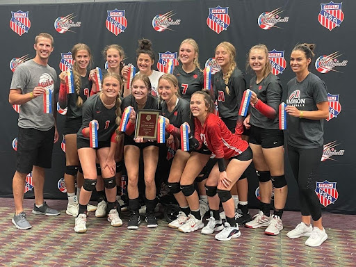 MHS volleyball club team at Nationals in Orlando, Florida they got to play teams from all over the world.
