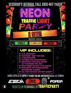The invitation to the BYU-I Neon party.